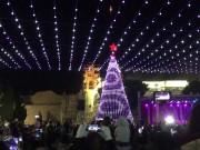 أريحا تحتفل بإضائة شجرة عيد الميلاد