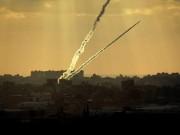 شاهد|| إطلاق رشقة صواريخ صوب مستوطنات غلاف غزة