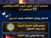 عدوان غزة 2014.. تسلسل أحداث اليوم الثالث والثلاثين