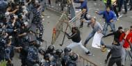لبنان: قوات الأمن تطلق الغاز على متظاهرين قرب البرلمان وسط بيروت