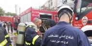 بالفيديو والصور: الدفاع المدني الفلسطيني يُشارك بإخماد حرائق في لبنان