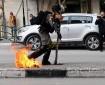 شاهد|| إصابة أحد جنود الاحتلال بزجاجة حارقة في الخليل