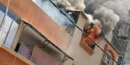 فيديو: اندلاع حريق في شركة الغاز في بلدة نعلين قضاء رام الله صباح اليوم