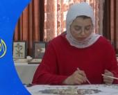 راما أبو حشيش.. فنانة أردنية تبدع لوحات الفسيفساء بذراع واحدة
