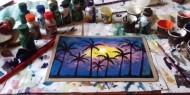 غدير أبو مشعل تشق طريقها نحو التميز بالفن التشكيلي