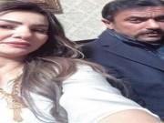 """دينا فؤاد مع أحمد العوضي في كواليس مسلسل """"اللي مالوش كبير"""""""