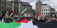 هولندا: مظاهرة طلابية مناصرة للشعب الفلسطيني